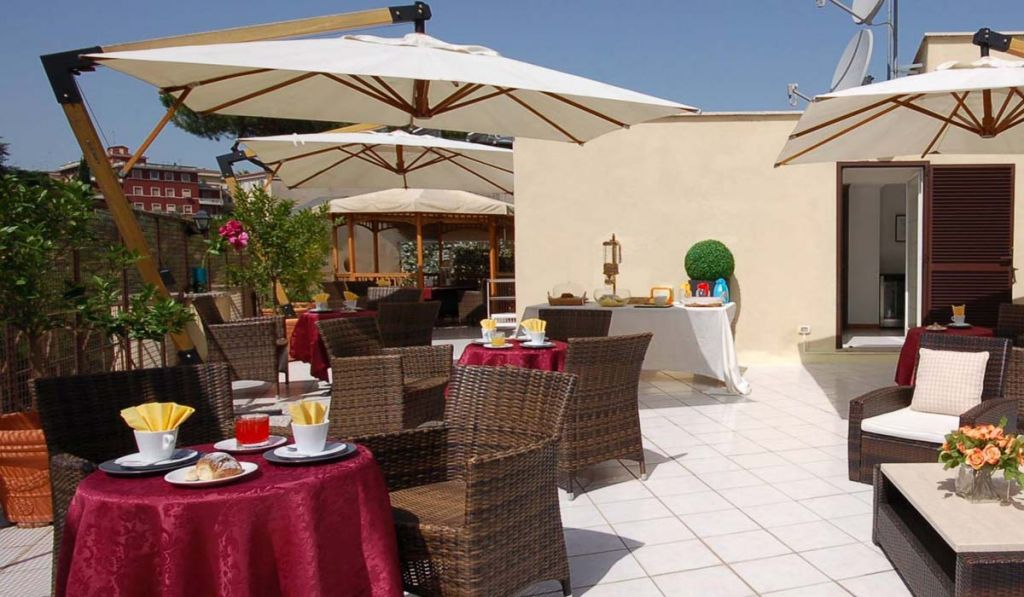 You can have breakfast on our terrace